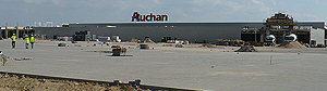Construction of hypermarket Auchan - Szczecin
